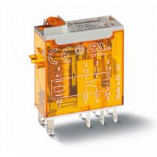 Миниатюрное промышленное электромеханическое реле; 1СO 16A;  катушка 24B АC;опции: кнопка тест + мех.индикатор
