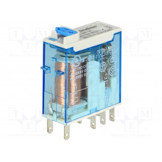 Миниатюрное промышленное электромеханическое реле;  2СO 8A;  катушка 12В DC;опции: кнопка тест + мех.индикатор