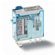 Миниатюрное промышленное электромеханическое реле;  2СO 8A; катушка 24В DC; влагозащита RTII; опции: кнопка тест + мех.индикатор