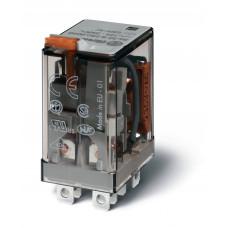 Миниатюрное силовое электромеханическое реле; 2CO 12A;  катушка 24В АC;опции: кнопка тест + мех.индикатор