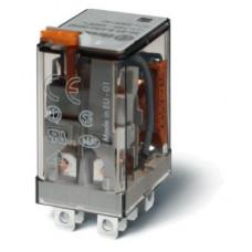 Миниатюрное силовое электромеханическое реле; 2CO 12A; катушка 24В DC;опции: кнопка тест + мех.индикатор + LED + диод