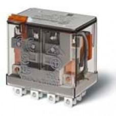 Миниатюрное силовое электромеханическое реле; 4CO 12A;  катушка 12В АC;опции: кнопка тест