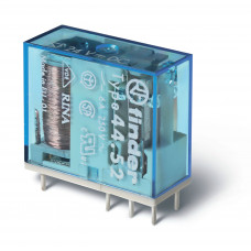 Миниатюрное универсальное электромеханическое реле;  2СO 6A;  катушка 60В DC (чувствит.);