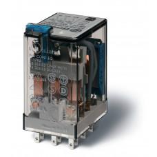 Миниатюрное универсальное электромеханическое реле;  3CO 10A;  катушка 230В АC;опции: кнопка тест + LED