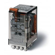 Миниатюрное универсальное электромеханическое реле;  4CO 7A; катушка 220B DC;опции: кнопка тест + мех.индикатор