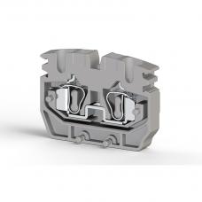 Миниклеммник пружинный промежут., 2,5 мм.кв. (серый); MYPK2,5