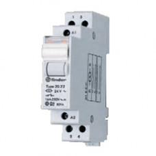Модульное электромеханическое шаговое реле; 1NC+1NO 16А, 2 состояния;  питание 12В DC;