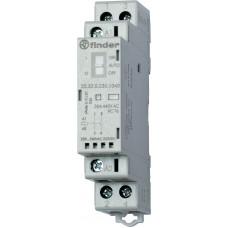 Модульный контактор; 1NO+1NC 25А; катушка 230В АС/DC;  опции: мех.индикатор + LED