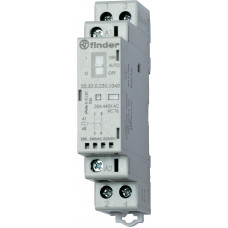 Модульный контактор; 2NO 25А; катушка 230В АС/DC;  опции: мех.индикатор + LED; специальная версия