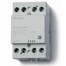Модульный контактор; 4NO 40А; катушка 230В АС/DC; ширина 53.5мм; опции: мех.индикатор; упаковка 1шт.