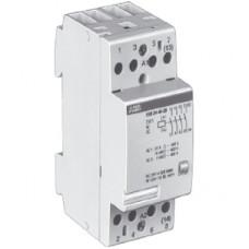 Модульный контактор с ручным управлением EN24-40 (24А AC1) катушка 230 AC/DC