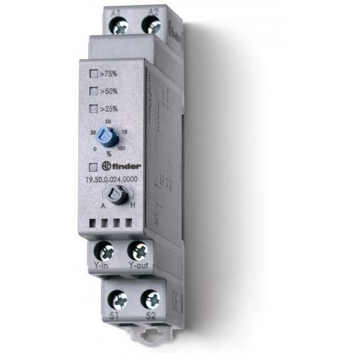 Модуль управления, аналоговый сигнал 0…10В DC; питание 24В АC/DC; монтаж на рейку 35мм;упаковка 1шт. 195000240000PAS