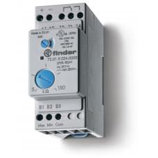 Реле контроля уровня; настраиваемый диапазон чувствительности 5…150кОм; питание 24В AC; выход 1CO 16А;