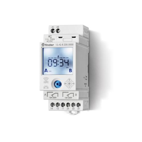 Реле времени цифровое недельное ASTRO; монтаж на рейку 35мм; 2СO 16A; питание 110…230B AC/DC; NFC; 12A282300000