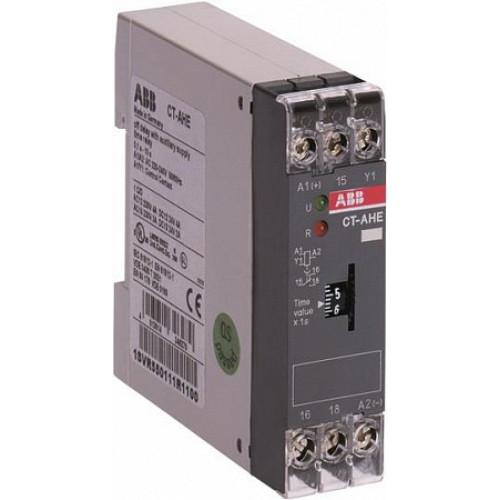 Реле времени CT-AHE (задержка на отключ.) 220-240B AC (временной диапазон 0,3..30с.) 1ПК 1SVR550111R4100