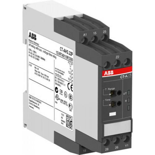 Реле времени CT-ARS.11S (задержка на откл.) 24-240B AC/DC без вспом. напряжения, 0,05с..10мин, 1ПК, винтовые клеммы 1SVR730120R3100
