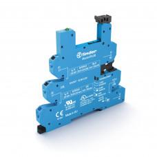 Розетка MasterPLUS с безвинтовыми клеммами Push-in для реле 34 серии; питание 24-240В AC/DC; в комплекте пластиковая клипса; опции: LED