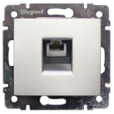 Розетка телефонная Legrand Valena RJ11 4 контакта 1 коннектор (алюминий)   770138