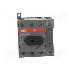 Рубильник OT80F4N2 до 80А 4х-полюсный для установки на DIN-рейку или монтажную плату (с резерв. ручкой)