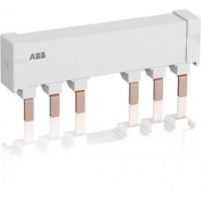 Шинная разводка 3-фазн. PS2-2-2-125 до 125А для соединения 2-х автоматов типа MS165, MO165 с 2-мя доп. контактами
