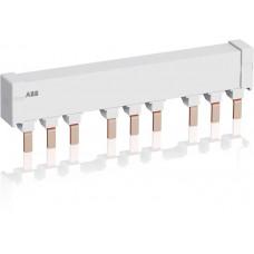 Шинная разводка 3-фазн. PS2-3-0-125 до 125А для соединения 3-х автоматов типа MS165, MO165 без доп. контактов