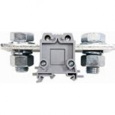 Силовой клеммник на DIN-рейку 240 мм.кв., болт., (серый); AVK240 B