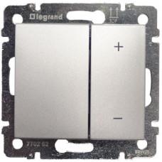 Светорегулятор (диммер) кнопочный Legrand Valena 60-600Вт (алюминий)   770274