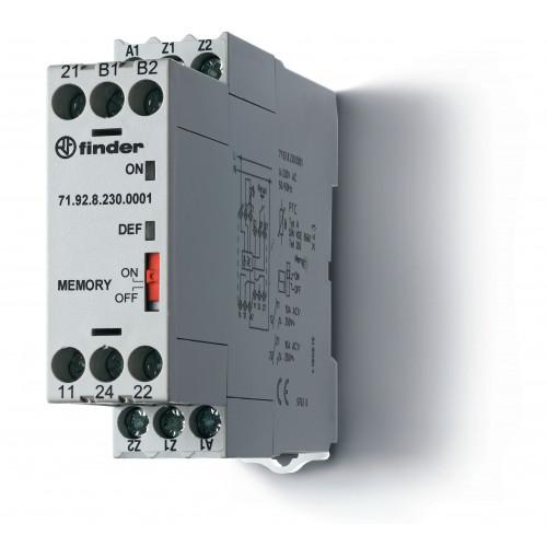 Термисторное реле (PTC); память отказов; питание 24В АС/DC; выход 2СO 10A; 719200240001