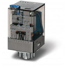 Универсальное электромеханическое реле;  3CO 10A;  токовая катушка DC 2.0A;опции: кнопка тест + мех.индикатор