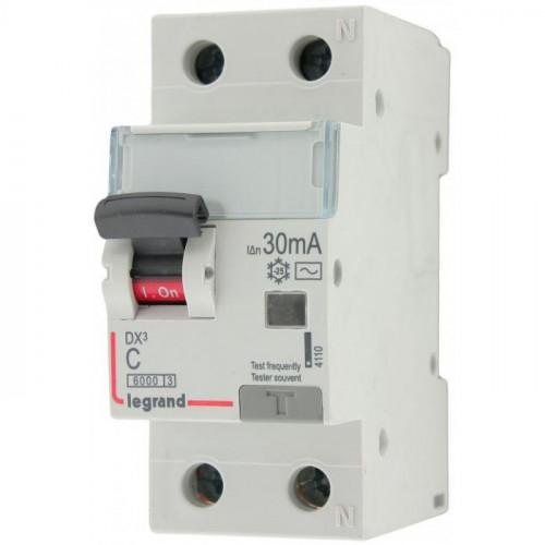 Выключатель автоматический дифференциального тока АВДТ DX3 1п+N 10А 30мА АС 411000